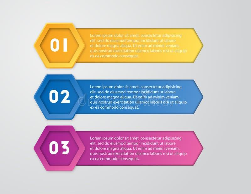 Paquet de calibre d'Infographic réglé pour des présentations d'affaires photo stock