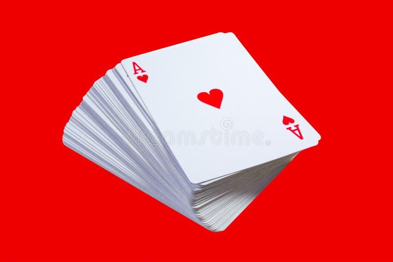 Paquet de cartes photos stock