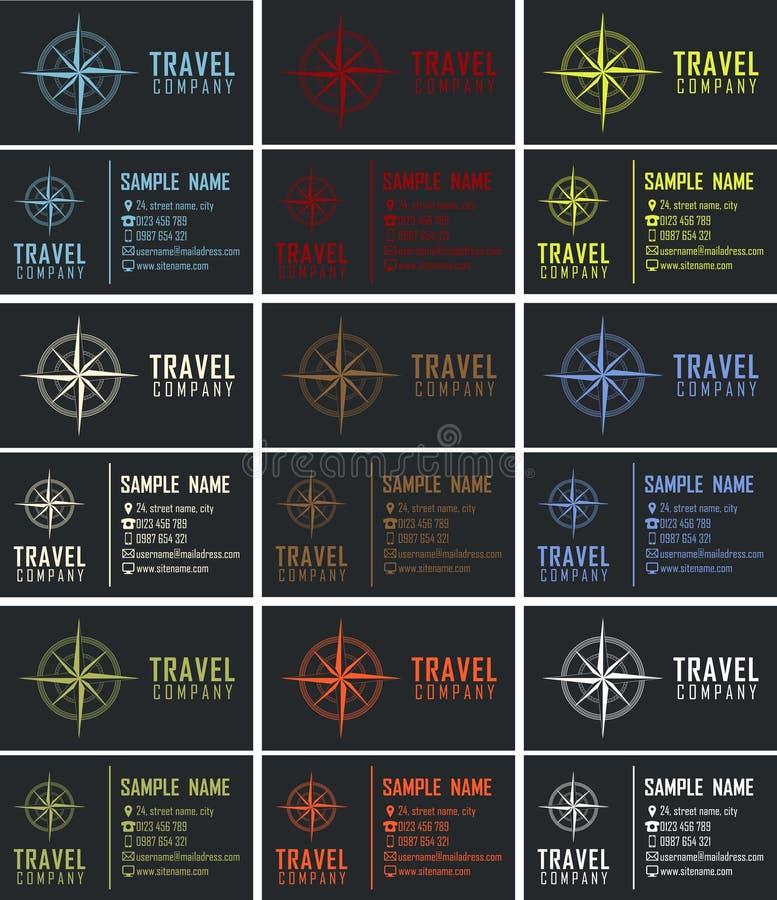Paquet de cartes de visite professionnelle de visite illustration stock