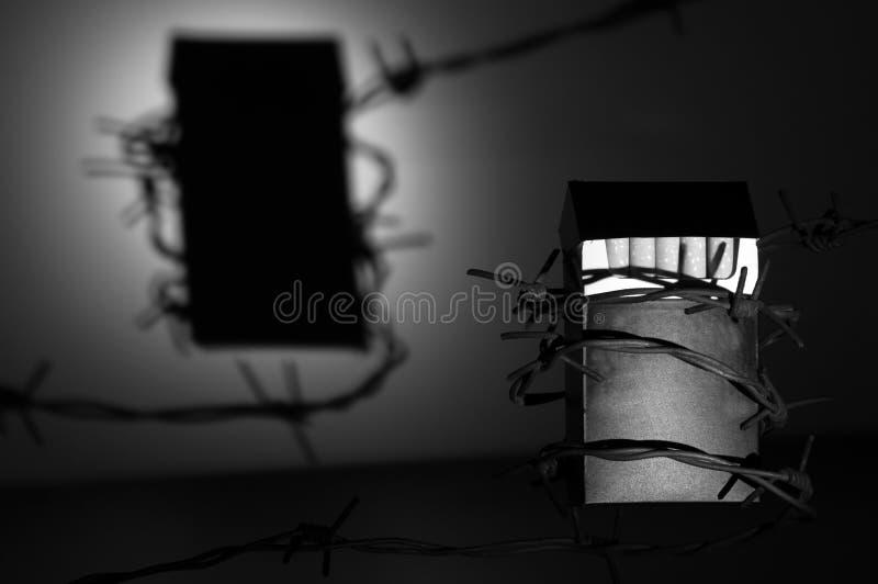 Paquet De Cigarette Avec Une Ombre Photo libre de droits