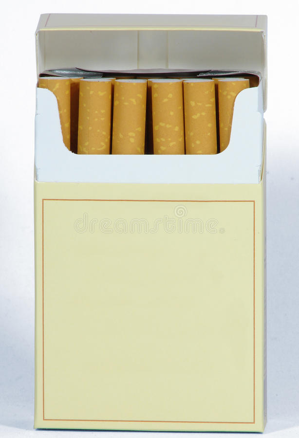 Paquet de CIGARETTES photographie stock