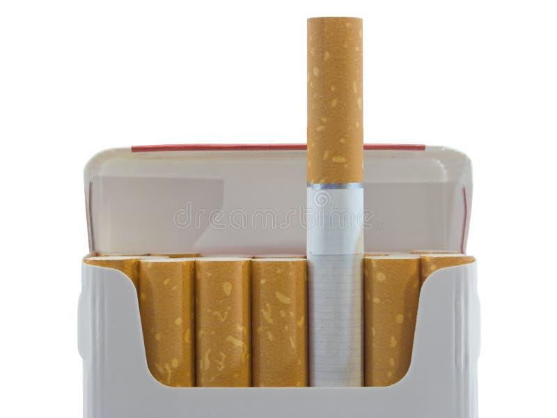 Paquet de cigarettes, plan rapproché photographie stock libre de droits