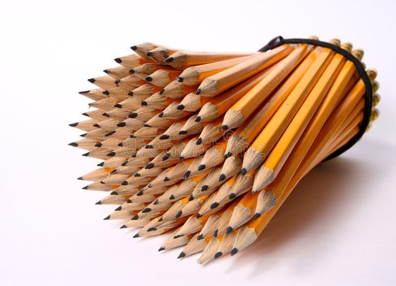 Paquet de crayons images libres de droits