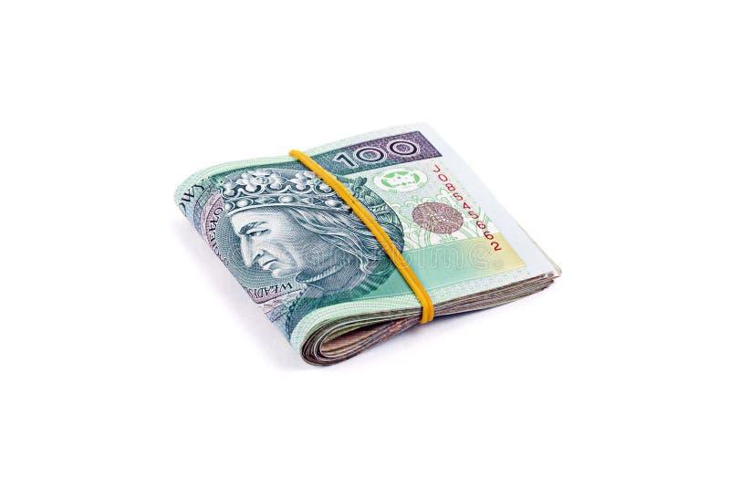 Paquet de devise polonaise photos libres de droits