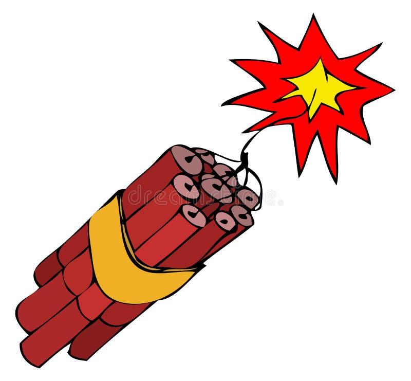 Paquet de dynamite illustration libre de droits