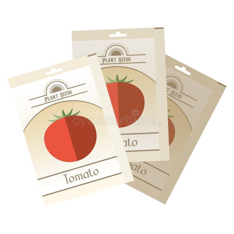Paquet de graines de tomate illustration libre de droits