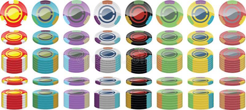 Paquet de jeton de poker photographie stock