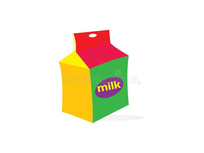 Paquet de lait d'isolement sur le fond blanc Illustration de vecteur de paquet de carton Conception de boîte de papier pour le pr illustration de vecteur