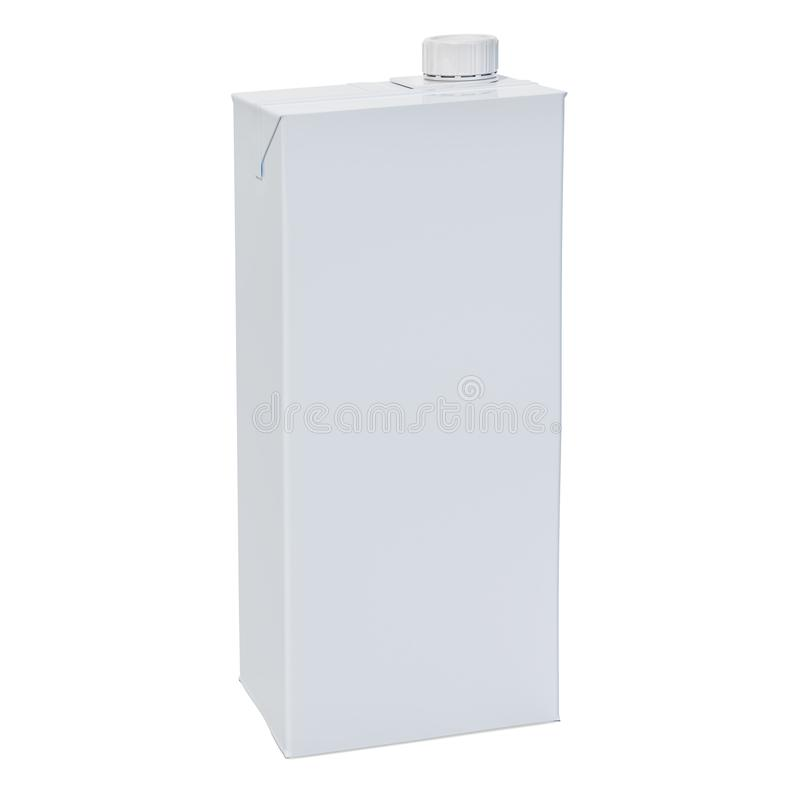 Paquet de lait ou de jus, boîte vide de récipient d'emballage de carton avec le pl illustration libre de droits