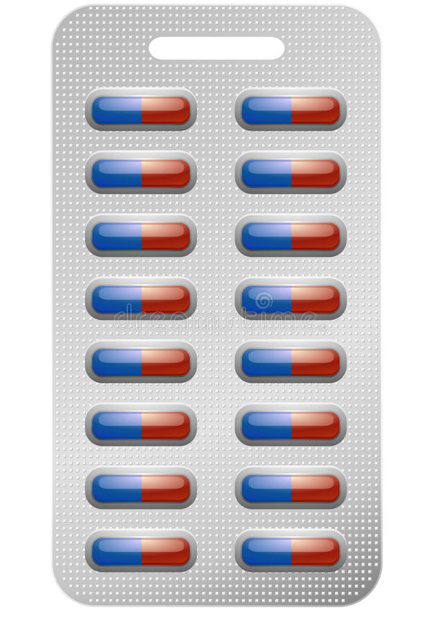 Paquet de pillules illustration libre de droits
