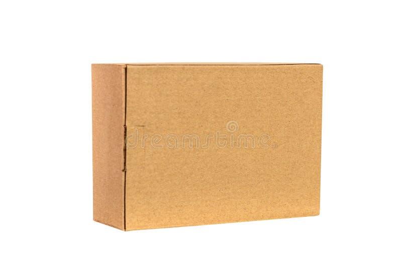 Paquet de plateau de Brown ou de papier brun ou boîte en carton d'isolement sur W photographie stock