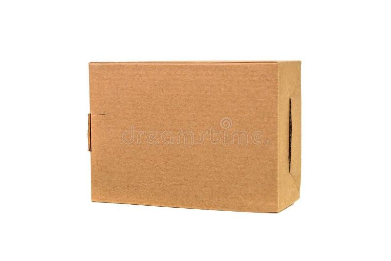 Paquet de plateau de Brown ou de papier brun ou boîte en carton d'isolement sur W photo libre de droits