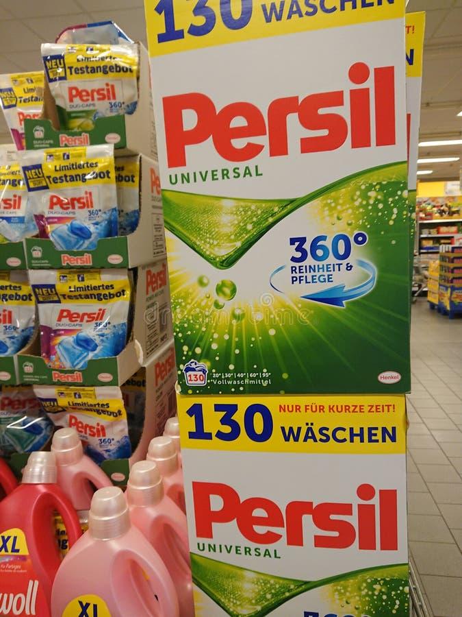 Paquet de poudre à laver de Persil photos libres de droits