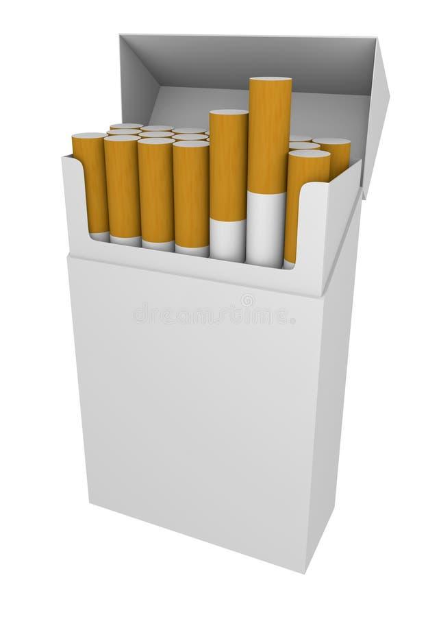 Paquet des cigarettes illustration stock
