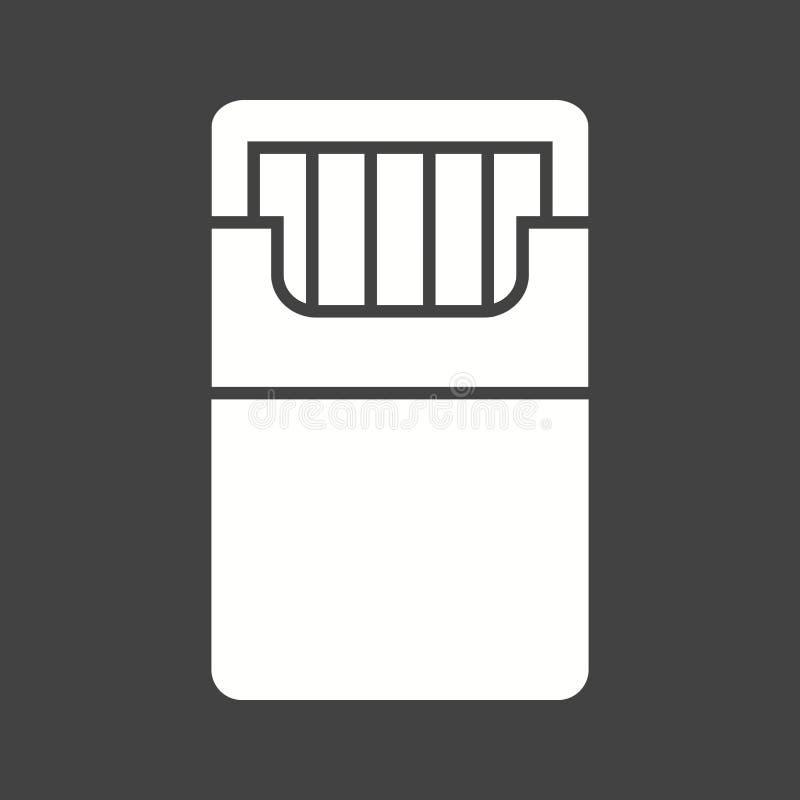 Paquet des cigarettes illustration de vecteur