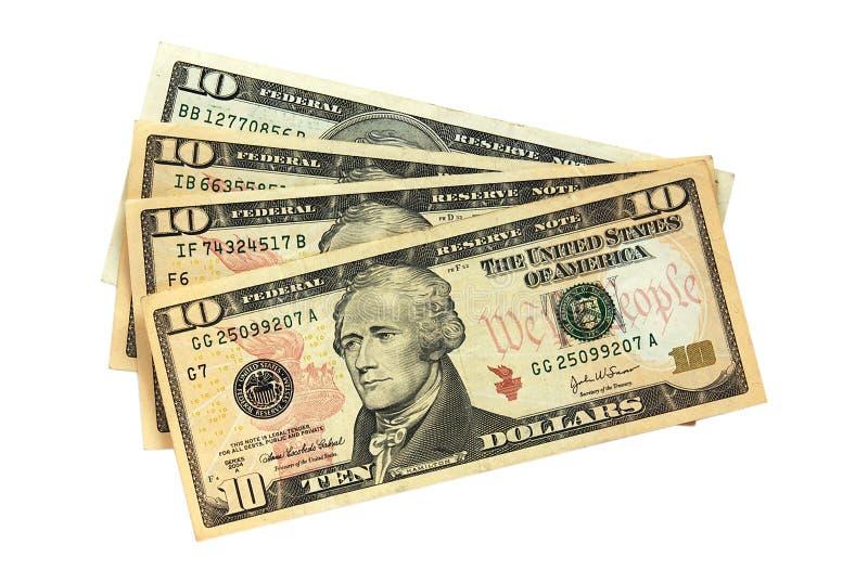 Paquet du dollar photos libres de droits