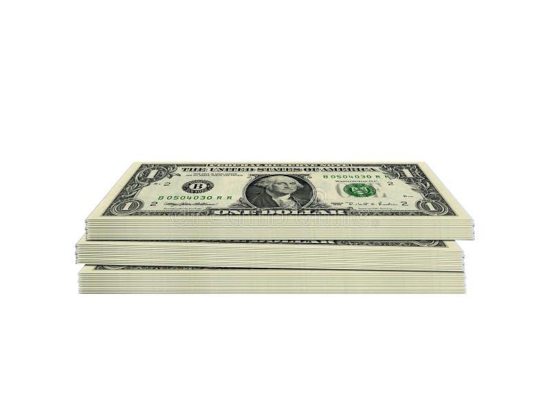 Paquet du dollar images libres de droits