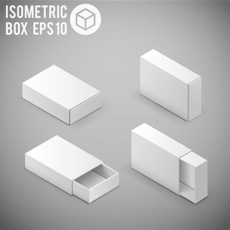 Paquet ENV 10 de carton de maquette de boîtier blanc illustration libre de droits