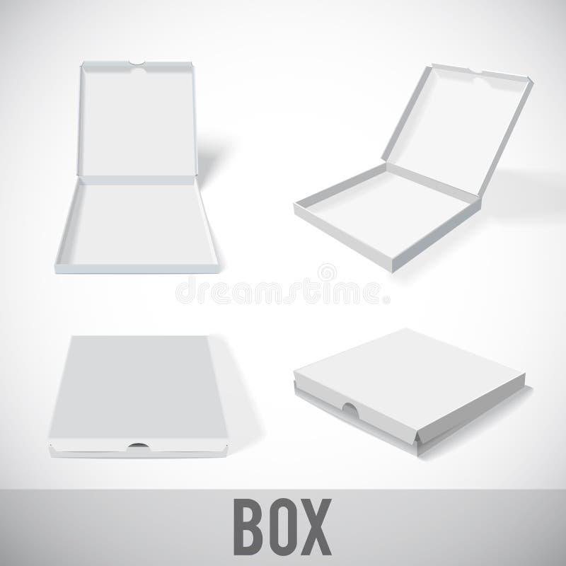 Paquet ENV 10 de carton de maquette de boîtier blanc illustration de vecteur