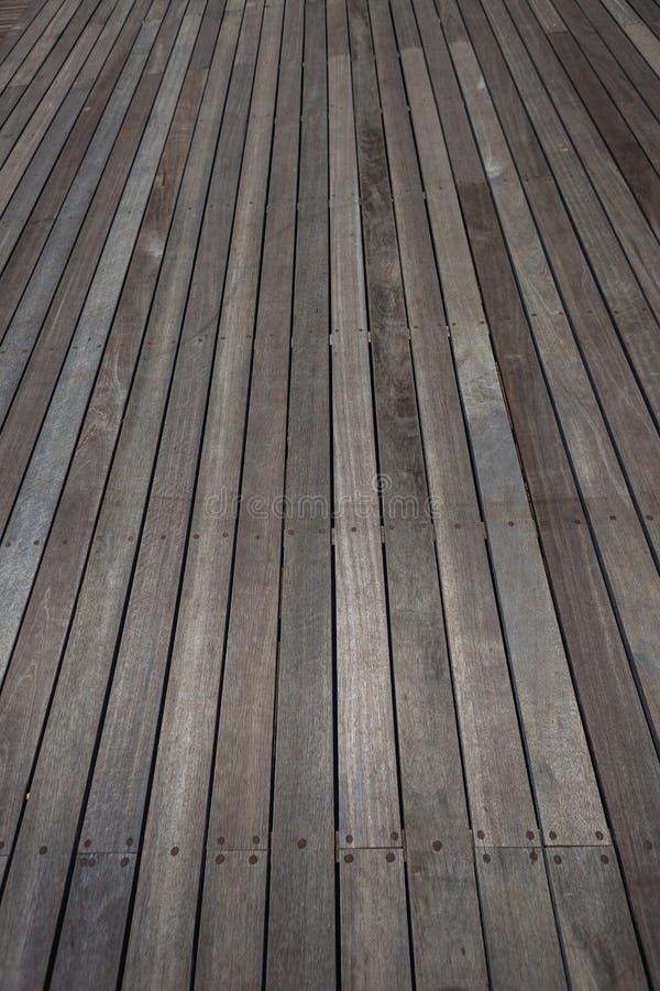 Paquet extérieur de plancher en bois   images stock