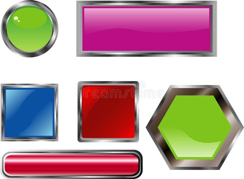 Paquet lustr? de boutons illustration stock