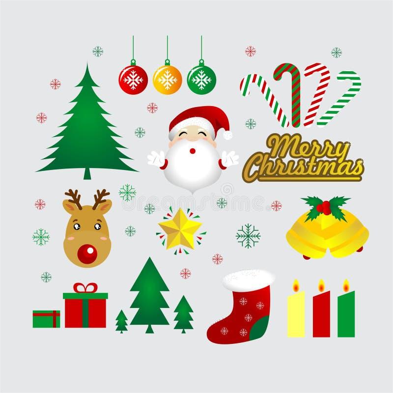 Paquet mignon de vecteur de Noël illustration stock
