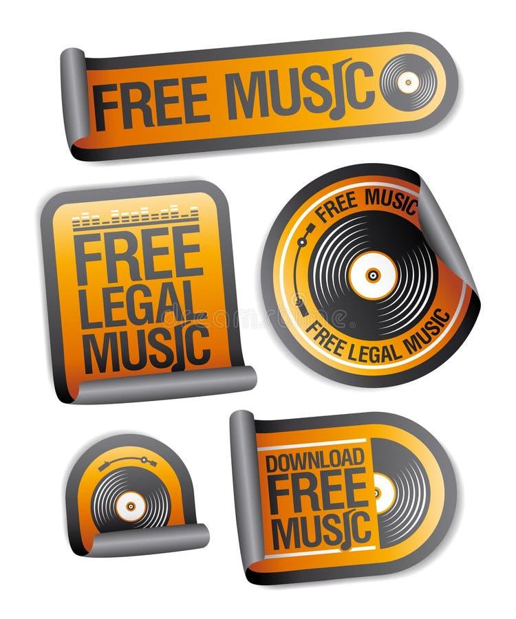 Paquet permissible libre de collants de musique. illustration libre de droits