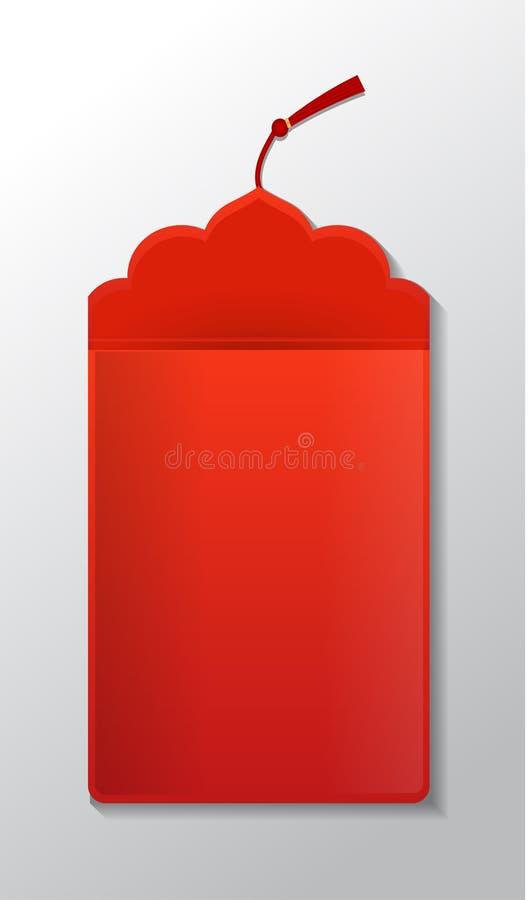 Paquet rouge d'enveloppe illustration stock