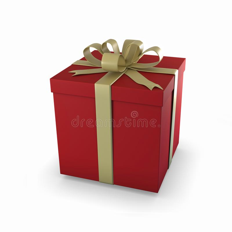 Paquet rouge de cadeau photo stock
