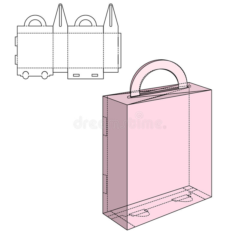 Paquet se pliant 30 illustration stock