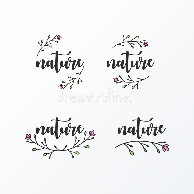 Paquet simple d'illustration de logo féminin illustration stock