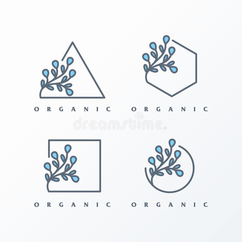 Paquet simple d'illustration de logo féminin illustration libre de droits