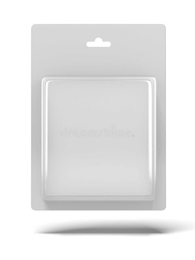 Paquet transparent blanc illustration de vecteur