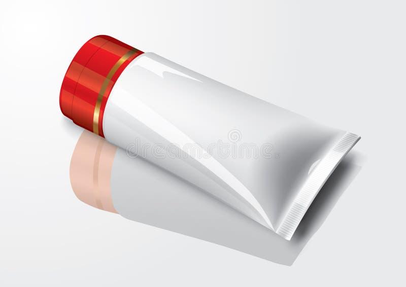Paquet vide de crème de tube de maquillage pour l'illustration de vecteur de maquette illustration de vecteur