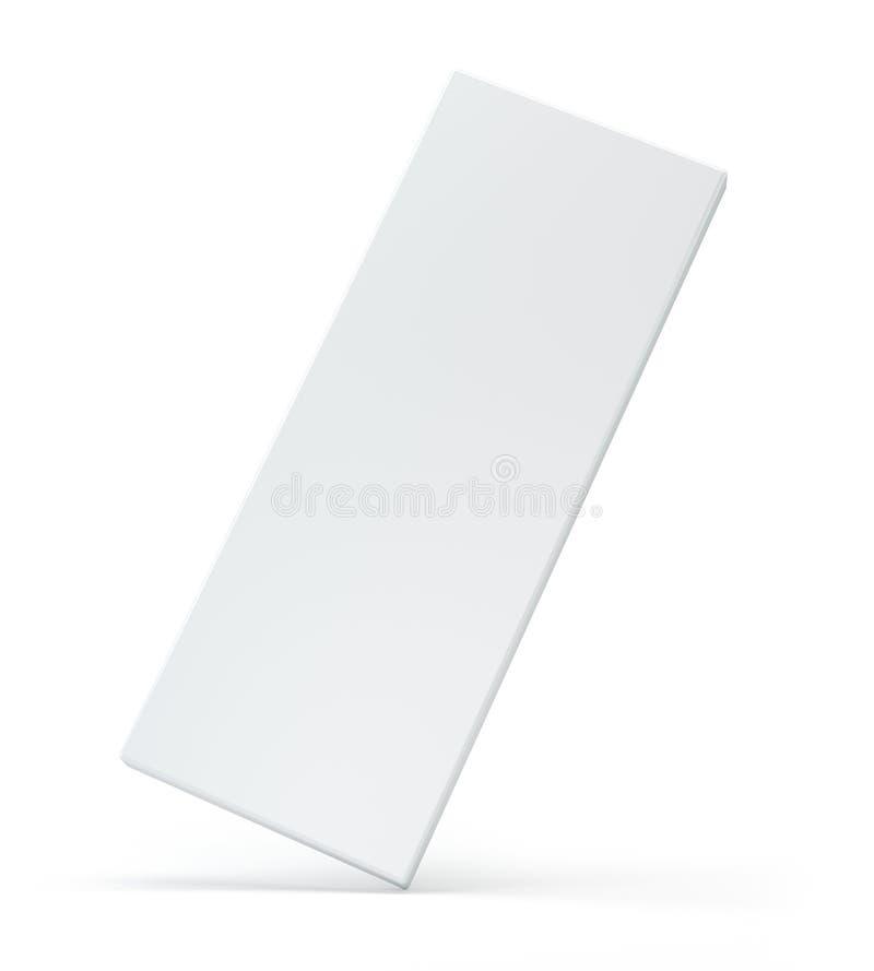 Paquete blanco en blanco en fondo gris plantilla de la caja del ejemplo 3d stock de ilustración