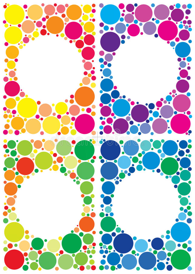 Paquete colorido de los fondos libre illustration
