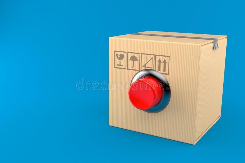 Paquete con el botón libre illustration