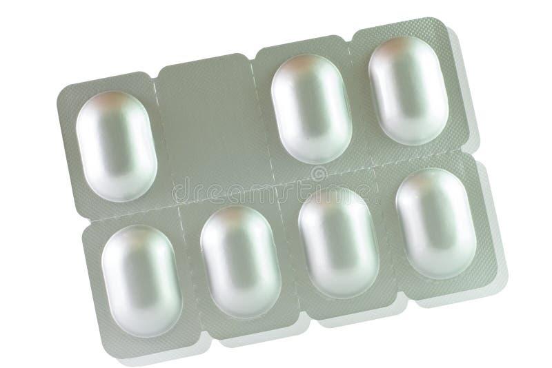 Paquete de ampolla de aluminio de siete tabletas imagen de archivo