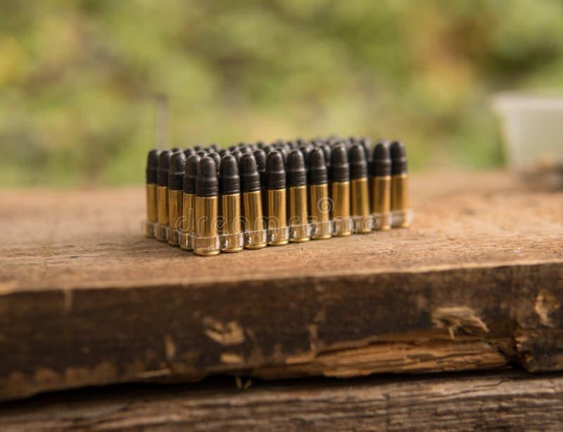 Paquete de cáscaras de la munición foto de archivo libre de regalías