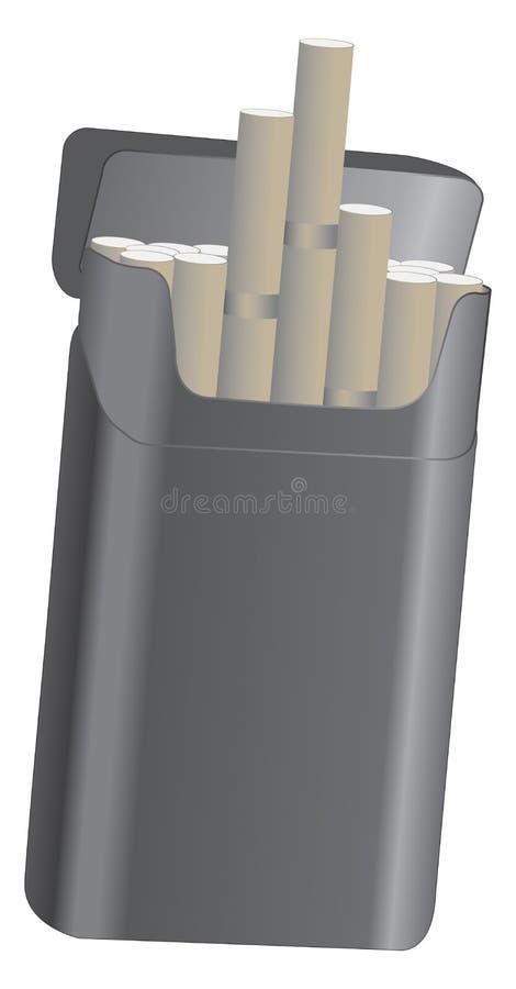 Paquete de cigarrillos fotos de archivo