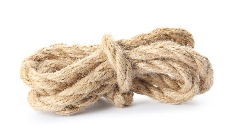 Paquete de cuerda del cáñamo imagen de archivo libre de regalías