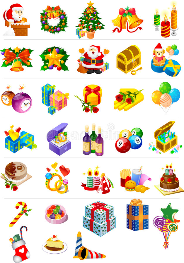 Paquete de la imagen de la Navidad imagenes de archivo