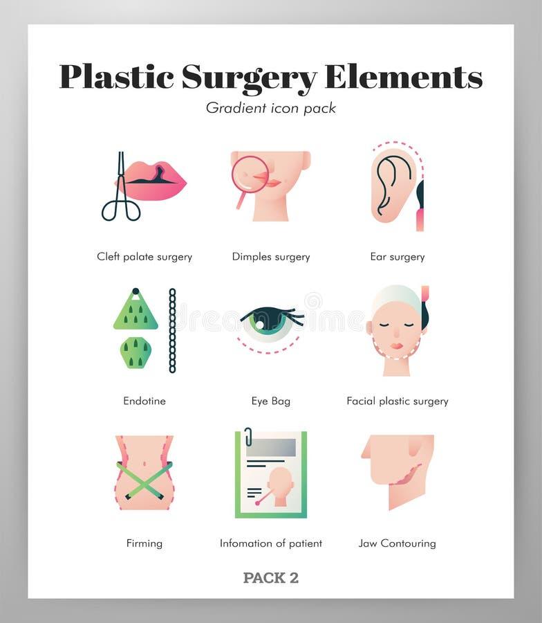 Paquete de la pendiente de los elementos de la cirugía plástica libre illustration