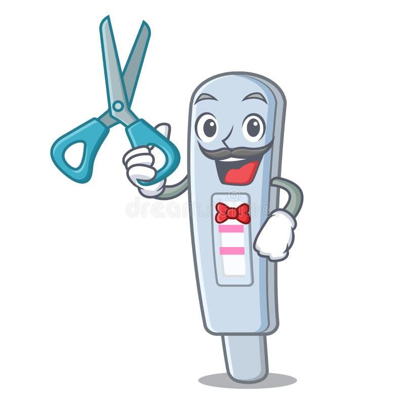 Paquete de la prueba del peluquero en la forma de la mascota ilustración del vector