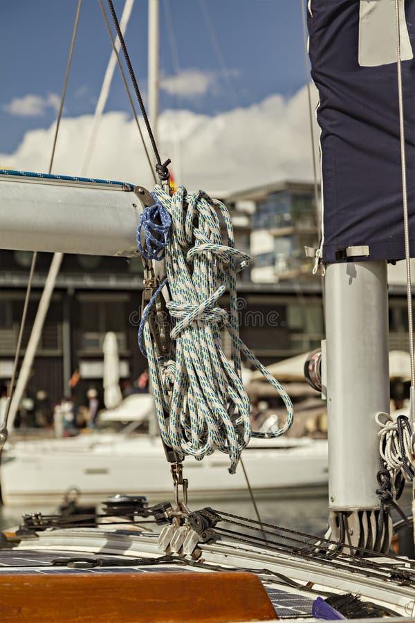 Paquete de las cuerdas de barco fotos de archivo