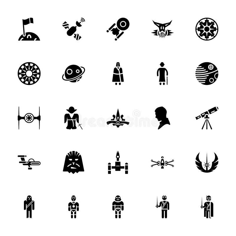 Paquete de las Guerras de las Galaxias ilustración del vector