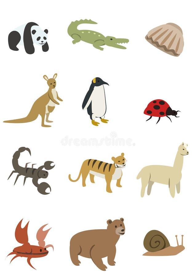 Paquete 2 de los animales stock de ilustración