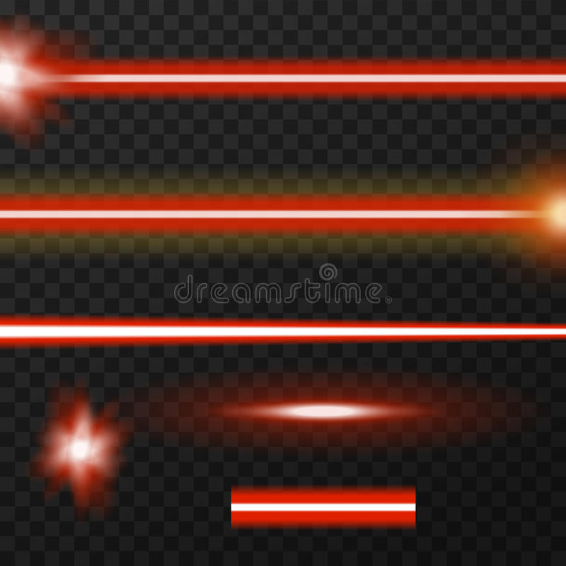 Paquete de los rayos laser ilustración del vector