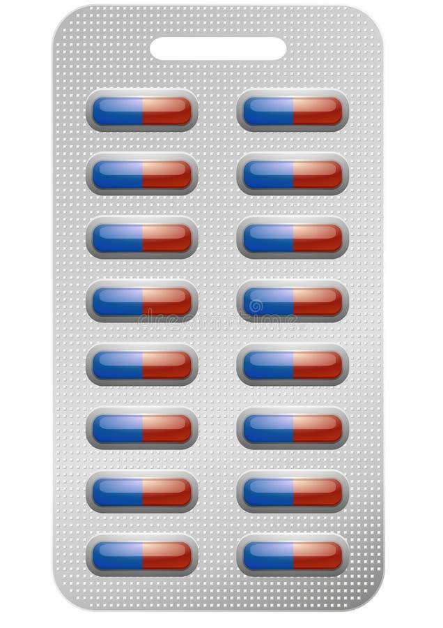 Paquete de píldoras libre illustration