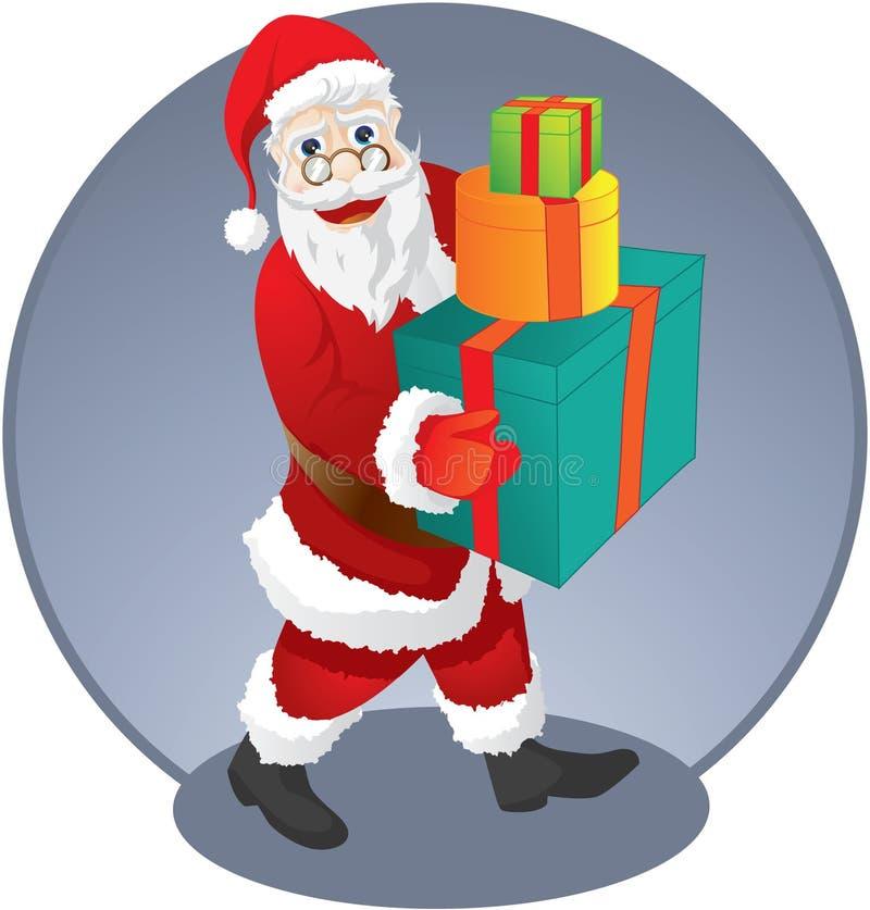 Paquete de Papá Noel stock de ilustración